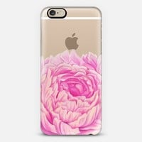 Peony Transparent iPhone 6 case by Dals | Casetify