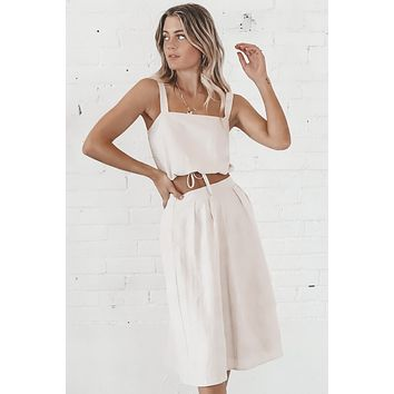 In The Midi Top And Skirt Set