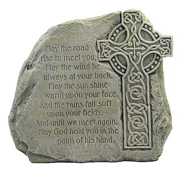Home & Garden Celtic Cross Stone Irish Blessing Yard Decor - 47559