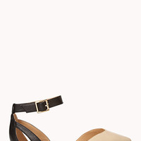 City-Girl Colorblocked D'Orsay Flats