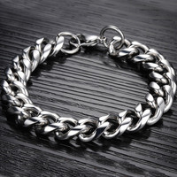 Silver Lobster Claw Clasp Stainless Steel Bracelet