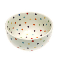 Polka Dot Cereal Bowl 22oz, Dinnerware, Polka Dot at www.fishseddy.com.