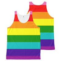 Rainbow Gay Pride LGBT Original 8 Stripes Flag All-Over-Print Tank Top