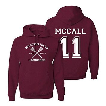 Scott McCall 11 Teen Wolf Beacon Hills Inspired Lacrosse Adult Fashion Apparel