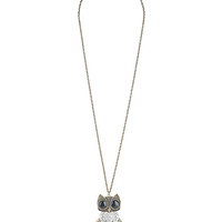 Leafy Owl Necklace