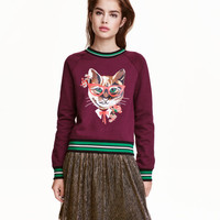 Sweatshirt with Motif - from H&M