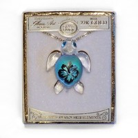 """Turtle Max Reptile Gifts :: Jewelry & Boxes :: Necklaces :: """"Aloha"""" Glass Art Sea Turtle Necklace"""