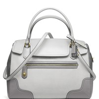 COACH Poppy Colorblock Leather Flap Satchel | Bloomingdale's