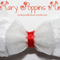 Mini Mary Poppins Hair Bow by MickeyWaffles on Etsy
