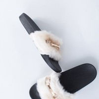 Decked Out Fur Slides