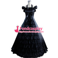 ping Gothic Lolita Punk Medieval Gown Black Long Evening Dress Jacket Tailor-made Alternative Measures - Brides & Bridesmaids - Wedding, Bridal, Prom, Formal Gown