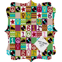 Sharon Turner Patch Girl Quatrefoil Magnet Board