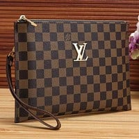 LV Louis Vuitton Women Fashion Leather Zipper Wallet Purse