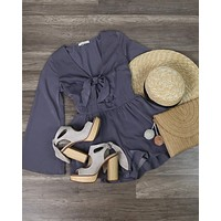 Final Sale - A Love Like This Romper - Grey