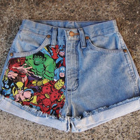 Avengers Marvel Superheroes Shorts by JstforYou on Etsy