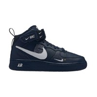 Nike Air Force 1 Tide brand high men and women casual wild sports shoes blue