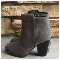 """Style and Flare"" Always Faithful Grey Heel Bootie Boots"