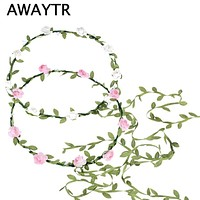 2017 Hair Bands for Girls Bohemian Style Wreath Flower Crown Wedding Garland Forehead Hair Head Band Accessories