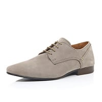 River Island MensBeige nubuck formal shoes