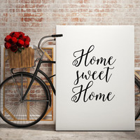 """Love poste Family quote """"Home sweet Home"""" Family print Gift idea Home decor Home poster Wall ArtWork Instant Download Printable Quotes"""