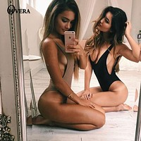 2017 Women Sexy Bodysuit Jumpsuit Romper One Piece Black White Backless Bodycon Body Top Sleeveless Playsuits Overalls