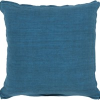 Solid Throw Pillow Blue