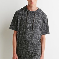 Hooded Abstract Print Tee