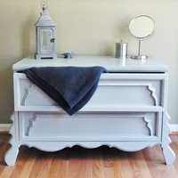 Light Grey Two Drawer Chest