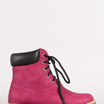 Padded Collar Low Heel Work Boot