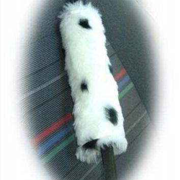 Dalmatian Spot faux fur single shoulder strap pad