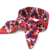 Chevron Bright and Fun Bun Wrap Top Knot Tie Wire Hair Accessory for Buns or Pony Tails Fun Wrist Wrap Accessory Teens Women