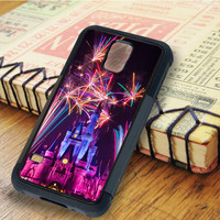Castle Fireworks Castle Fireworks Colorful night   For Samsung Galaxy S5 Cases   Free Shipping   AH0431