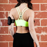 Padded Strappy Sports Bra Top with Removable Padding