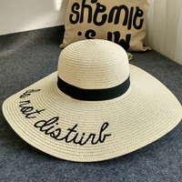 Wide Brim Straw Outdoor Foldable Beach Panama Hat