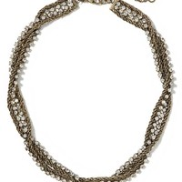 Banana Republic Double Chain Necklace Size One Size - Gold bronze