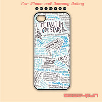 The Fault in Our Stars,iPhone 5,iPhone 5C Case, iPhone 5S case, Phone cases, iPhone 4 Case, iPhone 4S Case, iPhone case,Galaxy s3,s4