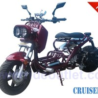 """PRO Ruckus EX Cruiser 50cc Gas Scooter ( Fully Automatic, GY6 Honda Clone Engine, 12"""" Aluminum Rims, Light Weight Body,Low Profile Seat, Stretched, Low and Fat Design, Performance Muffler, Fully Assembled w/ Road Test)"""