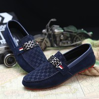 Spring New Slip On Casual Men Shoes Red Bottoms