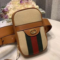 HCXX 19Aug 913 Gucci 581589 Fashion Shoulder Strap Crossbody Bag Casual Chest Bag Prurse 11.5-17.5-7cm