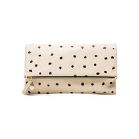 Clare V. Foldover Clutch in Cream