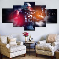5Pcs New England Patriots Footballer Tom Brady Canvas Poster For Sport Fan Modern Painting Wall Pictures For Living Room