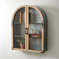 Hanging Arched Shelf with Galvanized Back