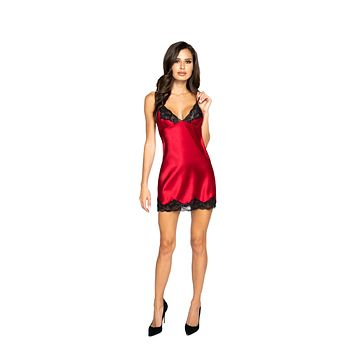 Roma Confidential LI367 - Soft Satin Chemise with Lace Detail