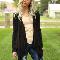 Smooth It Over Cardigan - Black