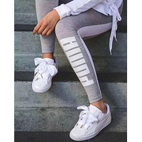 PUMA Fashion Fitness Gym Yoga Running Leggings Sweatpants