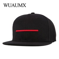 Trendy Winter Jacket Wuaumx Brand Snapback Caps For Men Flat Brimmed Hat for Women Baseball Caps gorras Snap back Hip Hop Casquette Bone Masculino AT_92_12