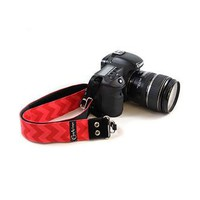 Chevron Red On Pink 1.5In Camera Strap - Capturing Couture - CASLR15-CVRP