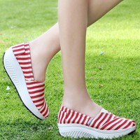Wedge Shoes Outdoor Sports Chaussures Breathable Softs slipon