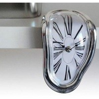 Dali Style Mantel or Shelf Sitting Melting Clock