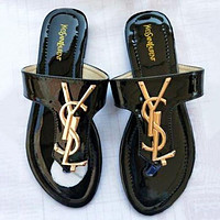 Ysl Yves Saint Laurent Summer Hot Sale Women Casual Sandal Slippers Shoes